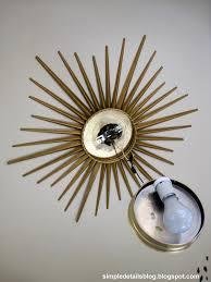 diy lighting fixtures. Plain Lighting Decorations Diy Lighting Fixtures Light Fixture Lighti On Gold Sunburst  Ceiling Li Inside