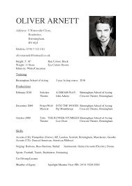 Actor Resume Format Acting Luxury Design Cv Template Idealstalist