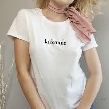 La Femme Text Soft Tee