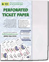 Perforated Raffle Ticket Sheets Amazon Com Perforated Ticket Paper White 24lb Bond Printer And
