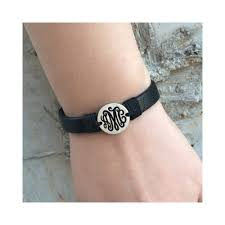 custom monogram leather bracelet leather bracelet uni leather bracelet