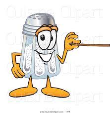 cuisine clipart of a cute salt shaker mascot cartoon character holding. salt  pepper shakers clipart