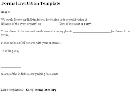 Formal Invitation Letter Template For Event Humman