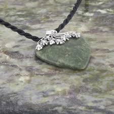 1001 large connemara marble heart pendant