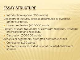 structure of course  written paper %  essay  12  introduction