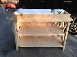 diy baby furniture. Rustic X Changing Table - Front, Unfinished Diy Baby Furniture