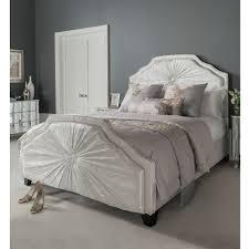 white velvet bed. Modren Velvet Kingsize Aurora White Fabric Crushed Velvet Bed Throughout A