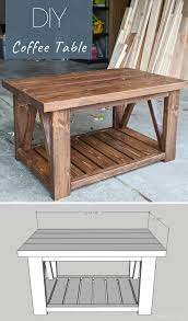 With strong grounded elements, this design cannot miss any naturalistic themes in its package. Diy Coffee Table With Truss Sides Diy Farmhouse Coffee Table Cool Coffee Tables Painted Coffee Tables