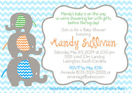Baby Elephant Template Elephant Baby Shower Invitations Including Elegant Design Idea For
