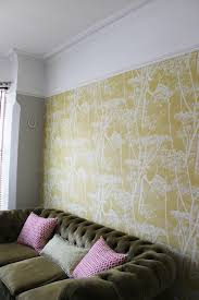 not sure whether to paint above the picture rail or not take a look at