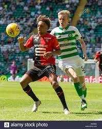 Stade Rennais Sacha Boey and Celtic's Ewan Henderson Stock Photo - Alamy