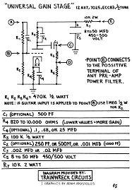 trainwreck pages rob adds the universal gain stage is a very flexible circuit due to its voltage dividers at the circuit s input and output