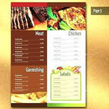 Free Food Menu Template New Modern Menu Design Templates Free Download Modern Style Menu