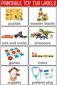 Labelling Art 28 Free Printable Toy Bin Labels For Playroom Storage