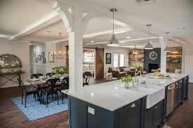 'This is a modern twist on the old school 'galley' style kitchen a lot of  us grew up with. By elongating the kitchen, adding the oversized island and  the ...