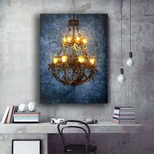 Photo Frame Light Design Us 13 67 28 Off Led Wall Picture Retro Crystal Chandelier Designs Canvas Art Light Up Painting Artwork Printed Frame Battery Open Decor In Painting