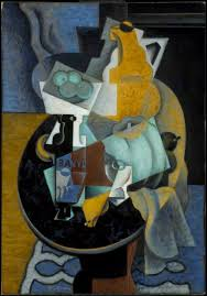 jean metzinger fruit and a jug on a table 1916 oil and sand on canvas 115 9 x 81 cm museum of fine arts boston