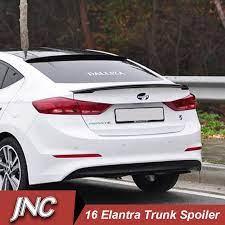 Rear Trunk Car Spoilers Wings For Hyundai Elantra 2016 2017 Abs Plastic Ducktail Trunk Lid Car Spoiler For Elantra Car Styl Elantra Car Hyundai Elantra Elantra