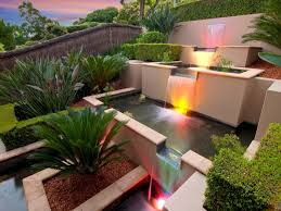 Small Picture Modern garden design using brick with fish pond decorative