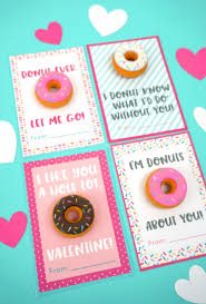 Printable Donut Valentine Cards Happiness Is Homemade