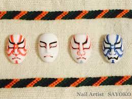 歌舞伎独特のメイク法をネイルアートに Nails2019 ネイル