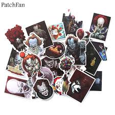 Patchfan <b>24pcs</b> Stephen King's IT Pvc <b>Waterproof</b> Sticker For diy ...