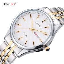 LONGBO Stainless Steel Couple Quartz Watches Lovers Wristwatch     Longbo Men    S Watches Price In Malaysia Best