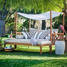 Round Outdoor Bed Patio Heaven Signature Queen Canopy Bed Hayneedle