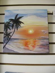 original painting on canvas tropical sunset beach home decor puerto rico