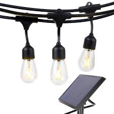 Solar Powered Retro Style String Light Bulbs Brightech Ambience Pro Impermeable Solar Led Para Exterior