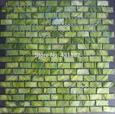 mother of pearl shell mosaic tiles green brick tile 15 30 2 factory direct decoration material kitchen backsplash tiles canada 2018 from a408886441