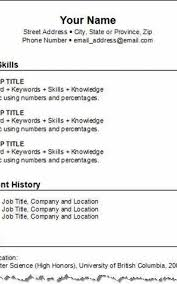 How To Make A Resume Simple Make Resume Free Formatted Templates Example