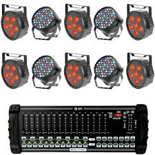 led stage lighting kit with 6 rgb stage wash led lights 4 rgbw spotlights