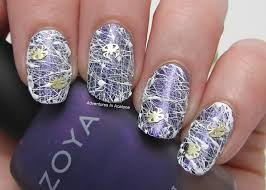 Spun Sugar Spider Web Nail Art! - Adventures In Acetone