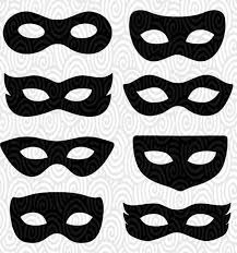 Masquerade Mask Template Magnificent Cricut Template Superhero Eye Masks Masquerade Silhouette No Etsy