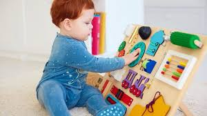 make your own busy board for toddlers