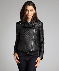 Bcbgeneration Black Quilted Faux Leather Asymmetrical Zip Cropped ... & Gallery Adamdwight.com