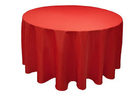 90 red whole polyester round tablecloth for wedding banquet restaurant