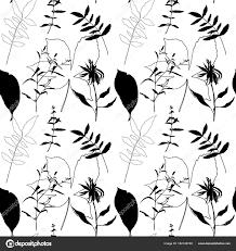 栗のベクトル イラスト デザイン葉ひまわりハーブ パターンの小さな