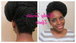 Kinky Twist Hairstyles Kinky Twist Hairstyles Kinky Twists Updo Natura Hair Style Youtube