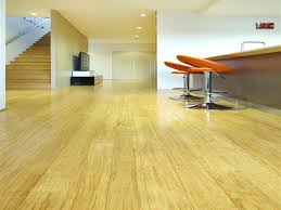 Flooring Ideas, Natural Strand Woven Bamboo Flooring In Modern Home  Interior Design With 2 Orange ...