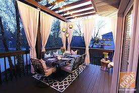 ... Most Interesting Home Depot Decorating Ideas 4 Deck Decorating Ideas A  Pergola Lights And DIY Cement ...