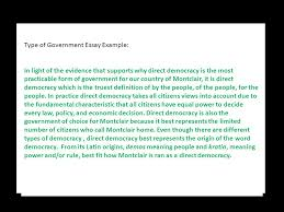 type of government essay example in light of the evidence that type of government essay example in light of the evidence that supports why direct democracy