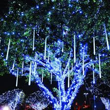 Blue Led Icicle Christmas Lights Details About Twinkle Star Meteor Shower Rain Lights 30cm 8 Tubes 288 Led Icicle Snow Blue