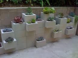 block wall planters outdoor fireplace cinder block cinder block ideas