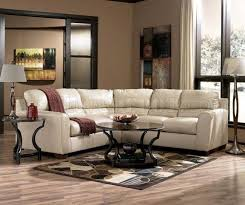 Taupe Color Blended Leather Match Modern Sectional Sofa