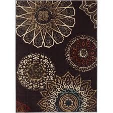 mohawk home midnight rosette rug chocolate mohawk home midnight rosette rug chocolate