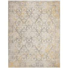 evoke collection 10 x 14 rug in ivory and grey safavieh evk264d
