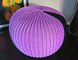 Knitted Pouf Pattern Custom Decorating Ideas
