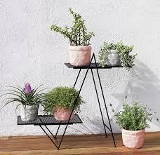 angled diy plant stand